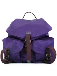 N 21 No21 Multi Pocket Backpack Pink And Purple