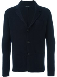 Roberto Collina Three Button Blazer Blue