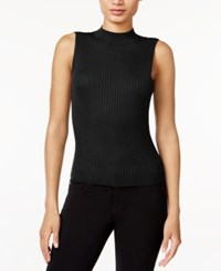 Bar Iii Sleeveless Mock Turtleneck Sweater Only At Macy's Deep Black