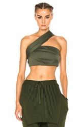 Baja East Cotton Canvas Top In Green