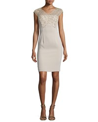 Escada Cap Sleeve Embellished Sheath Dress Slovenia