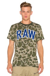 G Star Warth Camo Tee Army