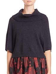 Alice Olivia Cropped Turtleneck Sweater Charcoal