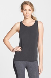 Solow Brushed Jersey Tank Black