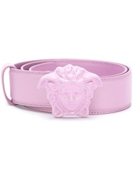 Versace Medusa Belt Pink And Purple