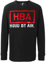 Hood By Air Logo Longsleeved T Shirt Black