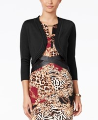 Thalia Sodi Chiffon Trim Bolero Cardigan Only At Macy's Deep Black