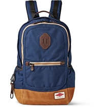 Rag And Bone Sporty Canvas And Suede Backpack Blue