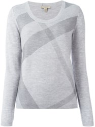 Burberry Brit Checked Jumper Grey