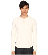 Jack Spade Woven Placket Henley Natural Men's Clothing Beige