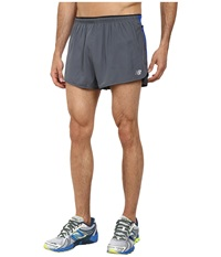 New Balance Impact 3 Split Short Lead Optic Blue Men's Shorts Gray