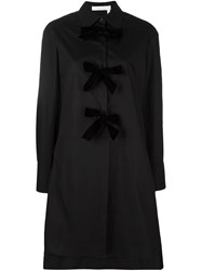 See By Chloe Long Sleeve Bow Shirt Dress Black