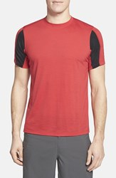 Men's Ibex 'W2' Merino Wool Blend Crewneck T Shirt