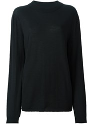 Rick Owens Crew Neck Jumper Black