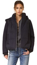 Dkny Pure Mixed Media Coat Classic Navy