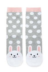 Forever 21 Dotted Bunny Print Socks