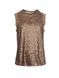 Garcia Sequined High Neck Top Metallic
