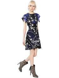 Roberto Cavalli Star And Floral Printed Jersey Dress