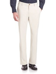 Saks Fifth Avenue Solid Pants Sand Blue