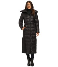 Rainforest Long Puffer With Pillow Collar Black Women's Coat