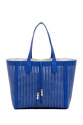 Madden Girl Tulip Perforated Tote Blue
