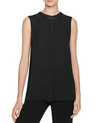 Vince Sleeveless Silk Top Black
