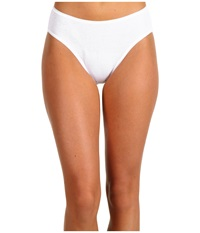 Hanro Cotton Seamless Hi Cut Full Brief 1626 White Women's Underwear