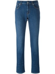 Alexander Mcqueen Cropped Jeans Blue