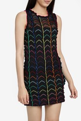 Missoni Lame Ruffled Mini Dress Black