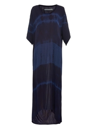 Raquel Allegra Tie Dye Silk Georgette Maxi Dress
