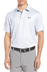 Under Armour Men's 'Playoff' Short Sleeve Polo White Overcast Gray Gray