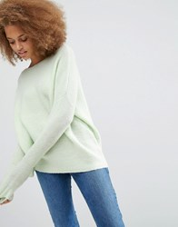 Asos Ultimate Chunky Jumper Mint Pink