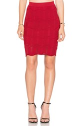 Lucy Paris Seashell Scallop Skirt Red