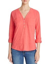 Vince Camuto Two By Two Pocket Henley Tee Compare At 69 Guava Fruit
