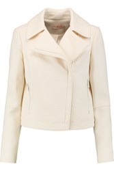 Tory Burch Cropped Stretch Boucle Jacket Ivory