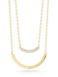 Elizabeth And James Ando Klint White Topaz Necklace Gold