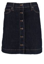 Gap Denim Skirt Rinsed Denim Blue Denim