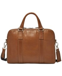 Fossil Men's Mayfair Small Leather Workbag Cognac