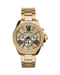 Wren Full Pave Golden Stainless Steel Watch Michael Kors