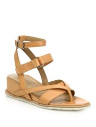 Ld Tuttle The Beat Leather Wedge Sandals Dune