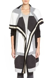 Trouve Women's Trouve Patchwork Open Front Long Cardigan
