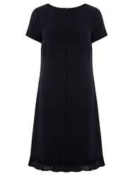 Boss Logo Boss Flared Hem Dress Black