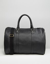 Asos Smart Holdall In Black Faux Leather Black