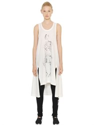 Y 3 Sketch Printed Cotton Jersey Tank Top