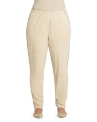 Lafayette 148 New York Plus Track Pants W Piping Soy