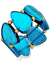 Style And Co. Gold Tone Blue Resin Bracelet