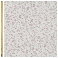 Unbranded Bunny Print Fabric Lilac
