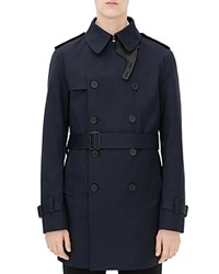 Sandro Magnetic Trench Coat Marine