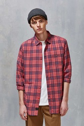 Globe Fawkner Plaid Button Down Shirt Coral