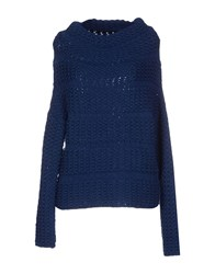 Kaos Knitwear Turtlenecks Women Dark Blue